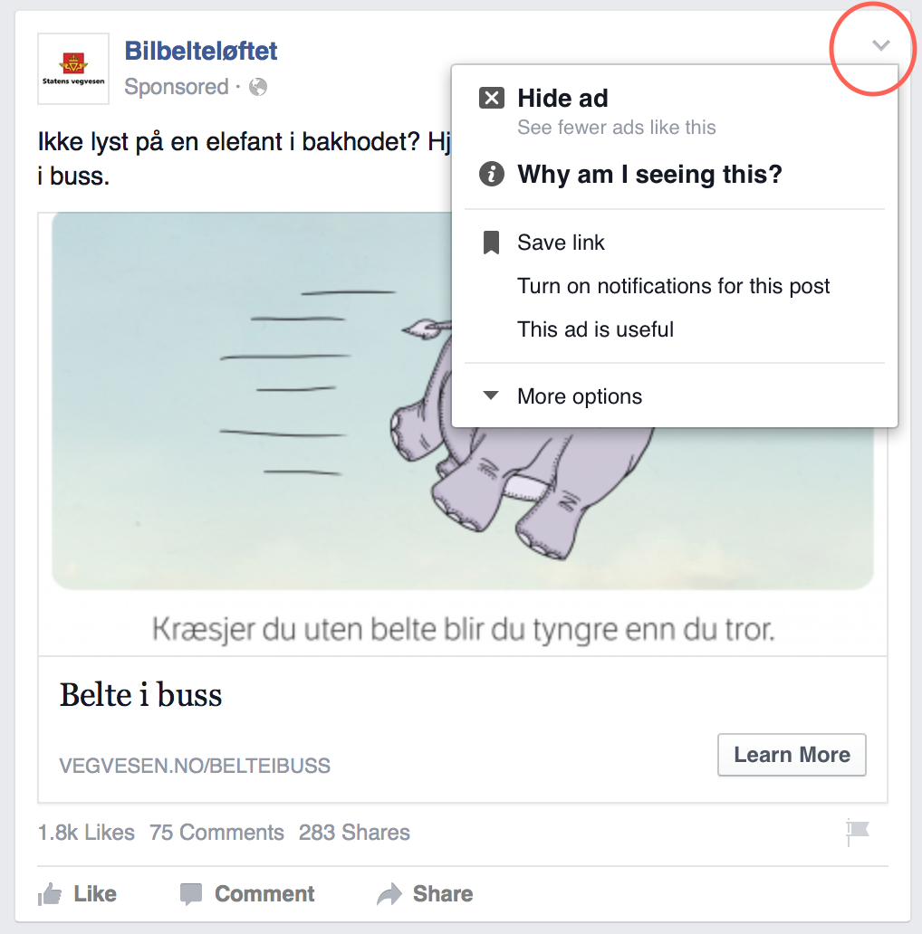 How to adjust what appear in your Facebook newsfeed